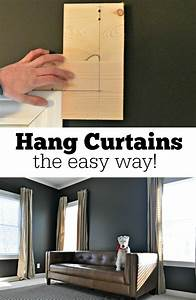 template for hanging pictures - how to hang curtains the easy way decor and the dog