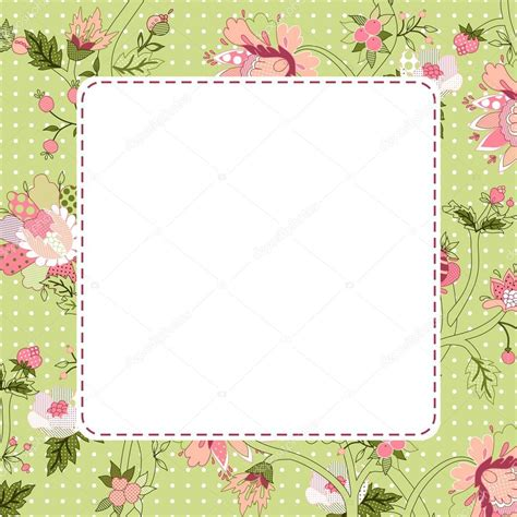 marco flores vintage Vector de stock © nataliafrei #51476979