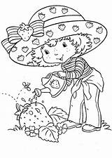 Strawberry Shortcake Coloring Growing Giant Fun sketch template