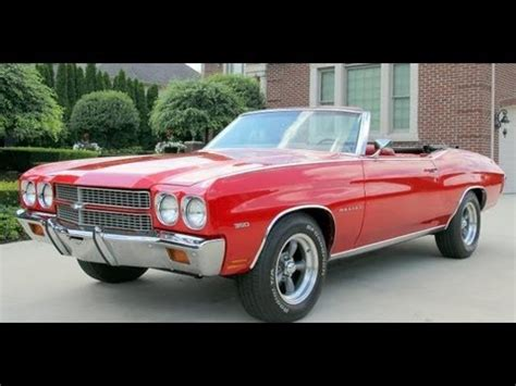 1970 chevy malibu convertible classic muscle car for sale in mi vanguard motor sales youtube