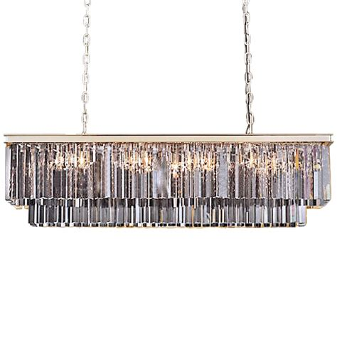 odeon 12 light silver shade glass chandelier in polished