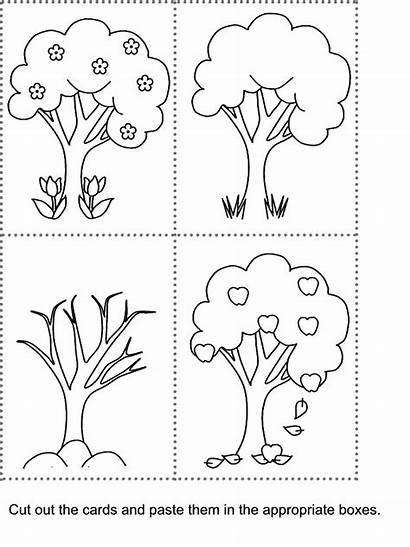 Kidzone Worksheet Paste Cut Seasons Worksheets Prek
