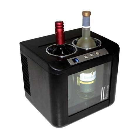thermoelectric wine cooler vinotemp 12 bottle dual zone thermoelectric mirrored wine