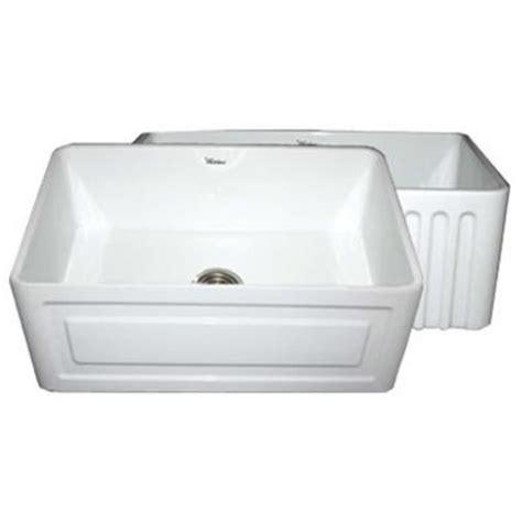 30 apron front sink white whitehaus collection raised panel reversible farmhaus