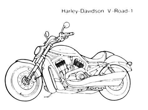 moto mezzo  trasporto da colorare harley  road
