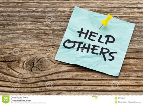 help others reminder stock image image of note positive