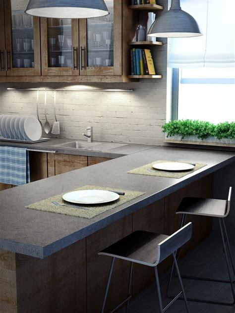 plan de travail cuisine avec evier integre cuisine grise la cuisine tendance en 40 modèles gris