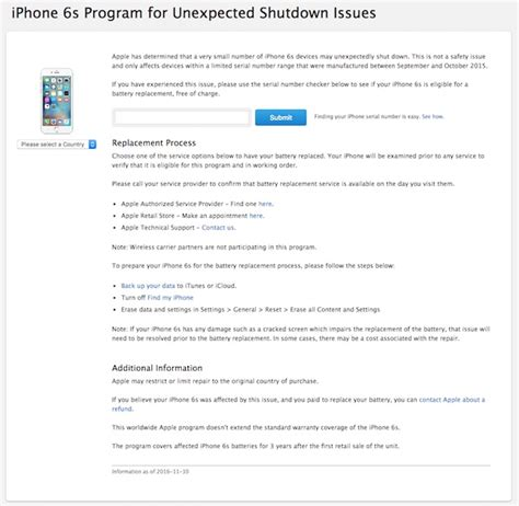 iphone replacement program check if your iphone 6s eligible for free battery