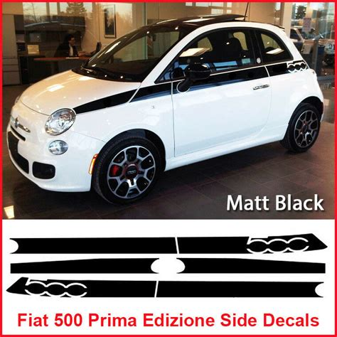 Fiat 500 Graphics by Fiat 500 Prima Edizione Side Racing Stripes Decals Sticker