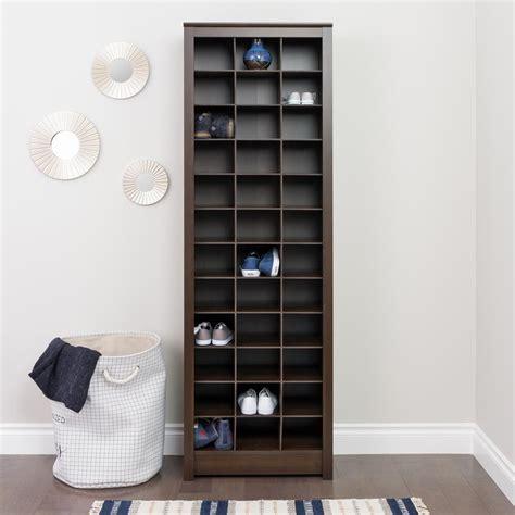 space saving shoe storage cabinet prepac espresso space saving shoe storage cabinet eusr