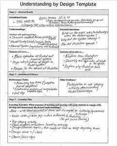 3 understanding by design lesson plan templatereport With understanding by design unit plan template