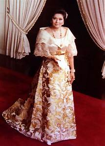 imelda marcos wearing a traditional filipiniana terno of With traditional filipino wedding dress