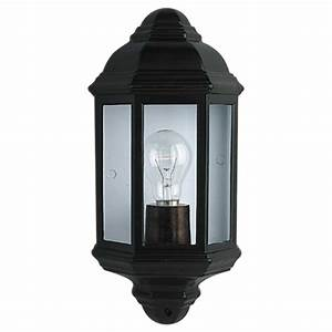 Searchlight electric bk outdoor wall light buy at