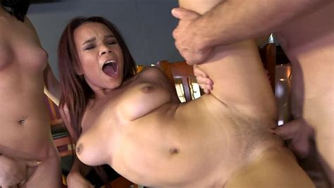 Two Hot Girls Are Licking A Big Hard Cock In The Sexy