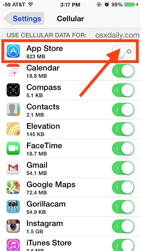 cellular data iphone how to what apps can use cellular data on iphone