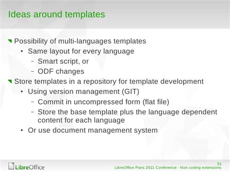 git commit template libreoffice openoffice org non coding extensions
