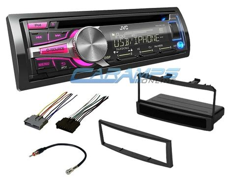 new jvc car stereo radio cd player deck w installation kit wiring harness ebay
