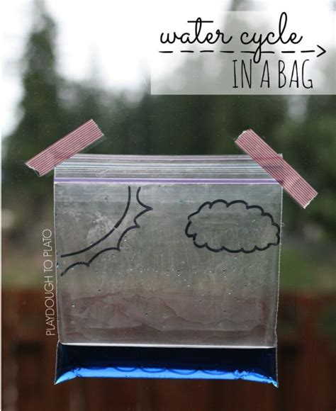 stem activities learning water cycle zip lock bag early plastic