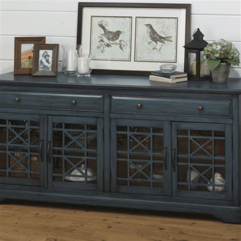 craftsman antique blue  tv stand louisville