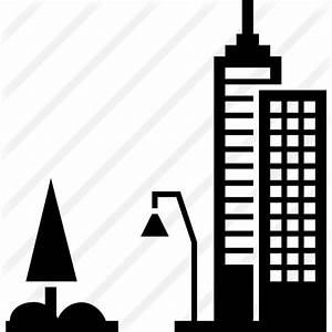 City street view - Free buildings icons