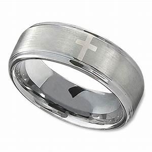 womens christian wedding ring with single cross and With christian wedding rings for women