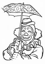 Coloring Clown Pages Pennywise Umbrella Under Smiling Circus Template Luna Clowns Adult Bing Sketchite Trending Days Last Whitesbelfast sketch template