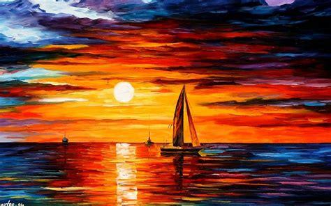 ozean ship herrlicher sonnenuntergang hintergrundbilder