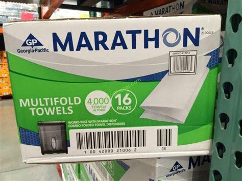marathon  fold towel  count costcochaser