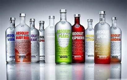 Vodka Absolut Absolute Bottle Wide Wallpapers 4k