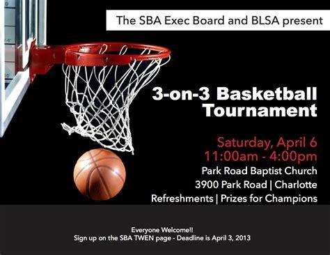 3 On 3 Basketball Tournament Flyer Template