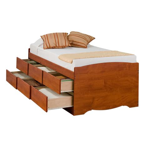 captains storage platform bed cherry