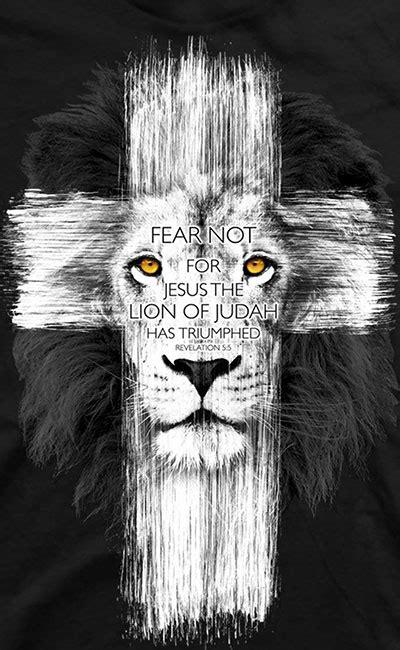christian scripture bible verses tshirts fear  lion