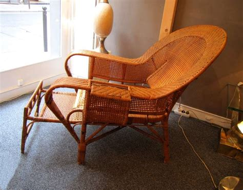 chaise longue rotin beautiful 1930 39 s rattan chaise longue at 1stdibs