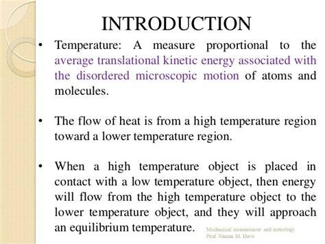 Chapter temperature measurement