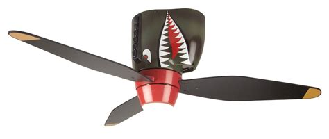 Hartzell Airplane Propeller Ceiling Fan by Tiger Shark Warplane Ceiling Fan Puts Iconic Ww2 Aircraft