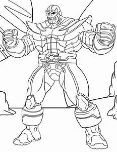 Thanos Muscles Coloring Page Free Printable Coloring
