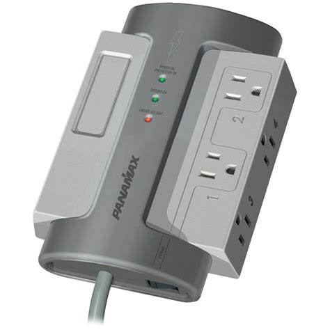 panamax surge protector panamax 4 outlet max 4 ex surge protector without lan dsl 1407