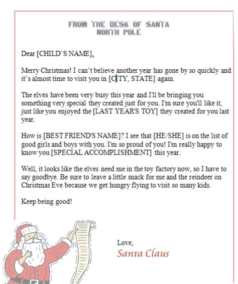 printable letters  santa printable letters