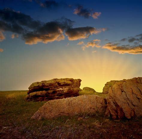 rocks  sunset  stock photo public domain pictures