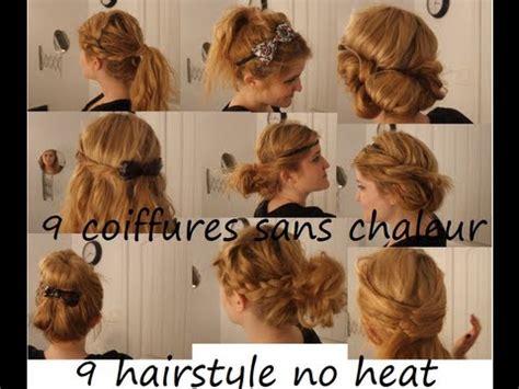 no heat hairstyles 9 coiffures sans chaleur tutorial id 233 e coiffure