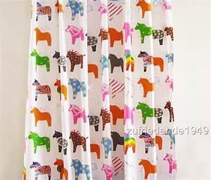 Kinderzimmer Deko Ikea : ikea kinderzimmer deko gardine 280m x235cm pferde ebay ~ Buech-reservation.com Haus und Dekorationen