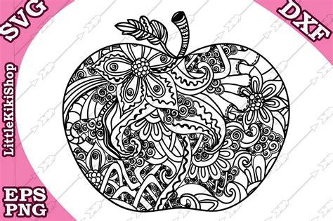 Elsa anna flowery mandala svg. Zentangle Apple Svg, Mandala Apple Svg, Doodle Apple Svg ...