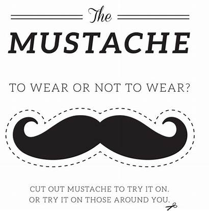 Mustache Printable Printables Template Coloring Booth Props