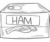 Ham Coloring Canned Eggs sketch template