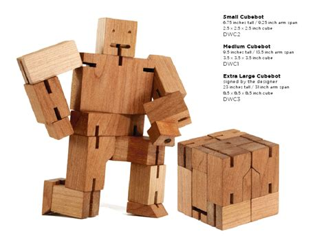 Areaware's Sustainable And Sophisticated Wooden Cubebots