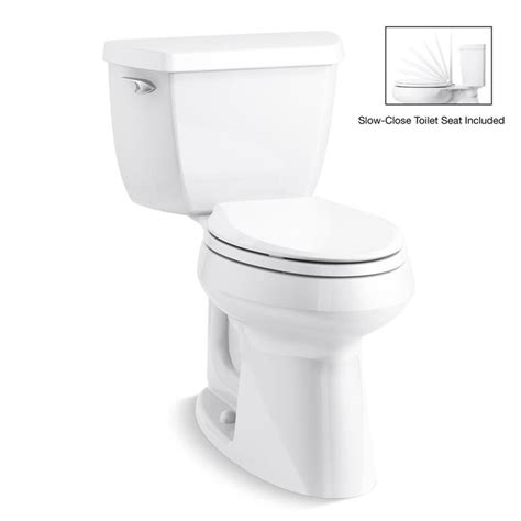 Kohler Bathroom Commodes by Kohler Highline Classic White Watersense Elongated Chair