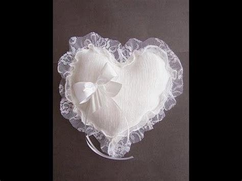 make a shaped bridal ring bearer pillow