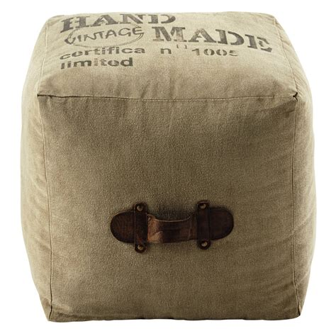 pouf pour chambre d ado pouf en tissu recyclé marshall maisons du monde