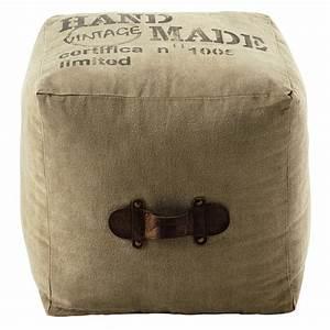 Maison Du Monde Pouf : pouf en tissu recycl marshall maisons du monde ~ Teatrodelosmanantiales.com Idées de Décoration