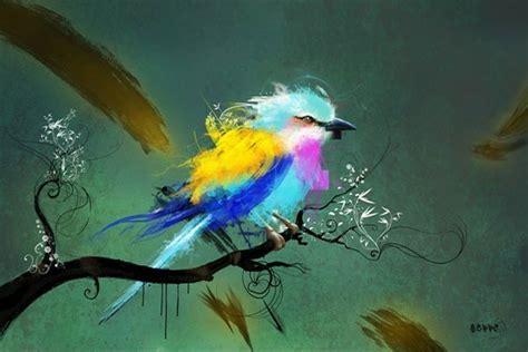 papier pour cuisine tableau design oiseau izoa
